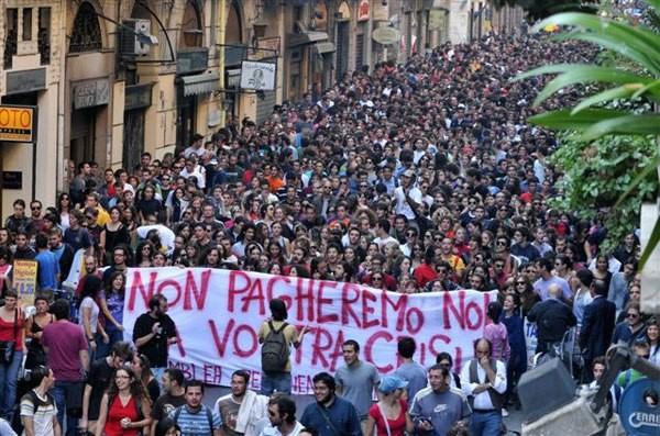 Manifestation du mouvement étudiant de l'Onda en 2008.