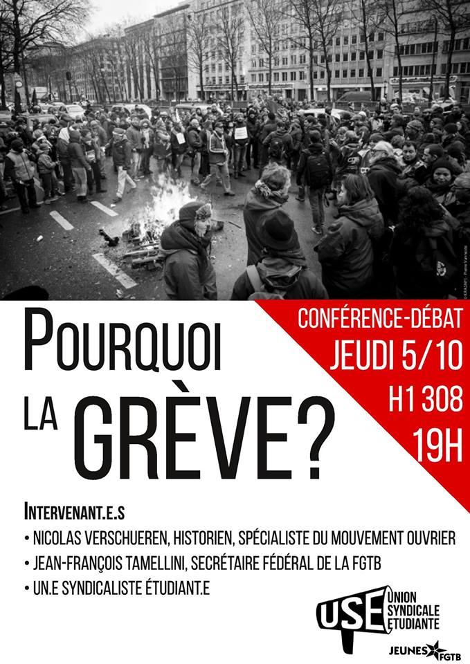 Pourquoi la grève ? Conférence-débat le mardi 5 octobre