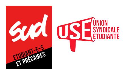 SUD Étudaint·e·s et Précaires et l'Union syndicale étudiante