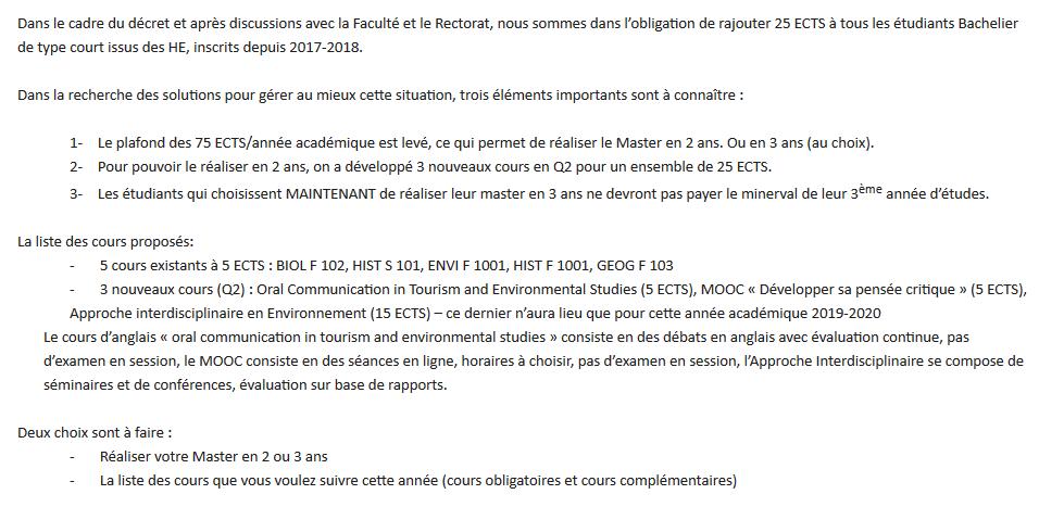 Un extrait du mail envoyé par le jury aux étudiant·e·s